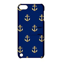 Gold Anchors Background Apple iPod Touch 5 Hardshell Case with Stand