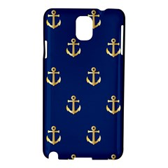 Gold Anchors Background Samsung Galaxy Note 3 N9005 Hardshell Case