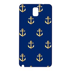 Gold Anchors Background Samsung Galaxy Note 3 N9005 Hardshell Back Case