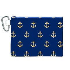 Gold Anchors Background Canvas Cosmetic Bag (XL)