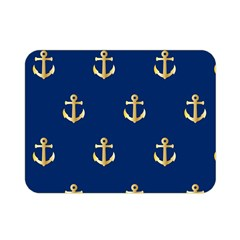 Gold Anchors Background Double Sided Flano Blanket (Mini)