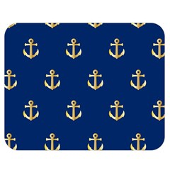 Gold Anchors Background Double Sided Flano Blanket (Medium)