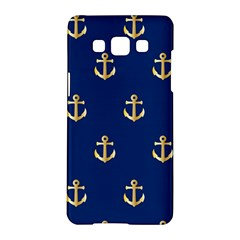 Gold Anchors Background Samsung Galaxy A5 Hardshell Case