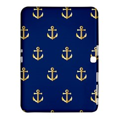Gold Anchors Background Samsung Galaxy Tab 4 (10.1 ) Hardshell Case
