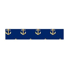 Gold Anchors Background Flano Scarf (Mini)