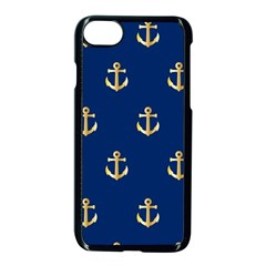 Gold Anchors Background Apple Iphone 7 Seamless Case (black)