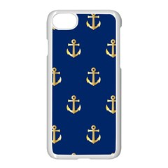 Gold Anchors Background Apple Iphone 7 Seamless Case (white)