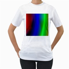 Graphics Gradient Colors Texture Women s T-Shirt (White) (Two Sided)