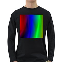 Graphics Gradient Colors Texture Long Sleeve Dark T-Shirts