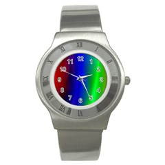 Graphics Gradient Colors Texture Stainless Steel Watch