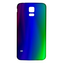 Graphics Gradient Colors Texture Samsung Galaxy S5 Back Case (White)