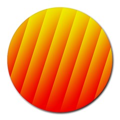 Graphics Gradient Orange Red Round Mousepads