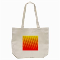 Graphics Gradient Orange Red Tote Bag (Cream)