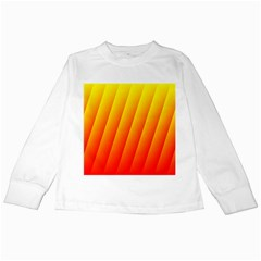 Graphics Gradient Orange Red Kids Long Sleeve T-Shirts