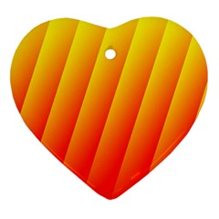 Graphics Gradient Orange Red Heart Ornament (Two Sides)