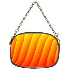 Graphics Gradient Orange Red Chain Purses (One Side)