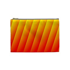 Graphics Gradient Orange Red Cosmetic Bag (Medium)
