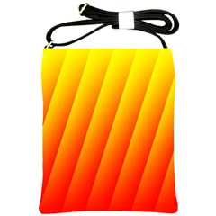 Graphics Gradient Orange Red Shoulder Sling Bags