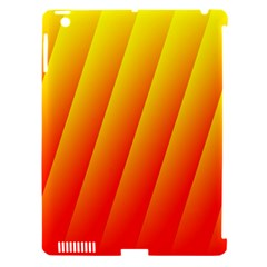 Graphics Gradient Orange Red Apple iPad 3/4 Hardshell Case (Compatible with Smart Cover)