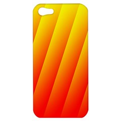 Graphics Gradient Orange Red Apple iPhone 5 Hardshell Case