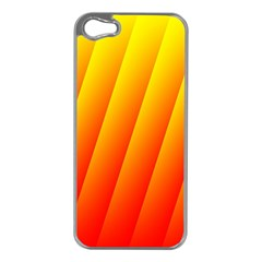 Graphics Gradient Orange Red Apple iPhone 5 Case (Silver)