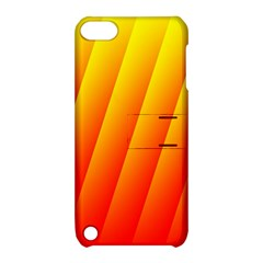 Graphics Gradient Orange Red Apple iPod Touch 5 Hardshell Case with Stand