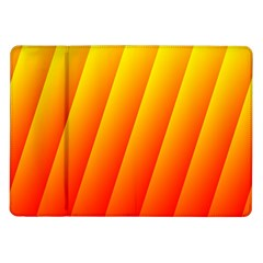 Graphics Gradient Orange Red Samsung Galaxy Tab 10.1  P7500 Flip Case