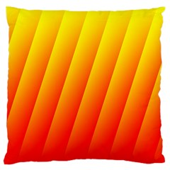 Graphics Gradient Orange Red Standard Flano Cushion Case (Two Sides)