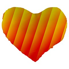 Graphics Gradient Orange Red Large 19  Premium Flano Heart Shape Cushions