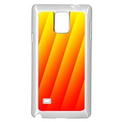 Graphics Gradient Orange Red Samsung Galaxy Note 4 Case (White)
