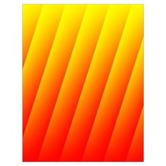 Graphics Gradient Orange Red Drawstring Bag (Large)