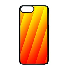 Graphics Gradient Orange Red Apple Iphone 7 Plus Seamless Case (black)