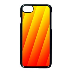 Graphics Gradient Orange Red Apple Iphone 7 Seamless Case (black)