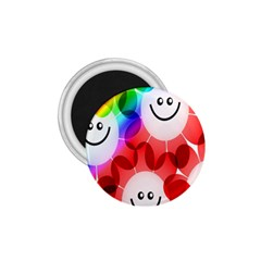 Happy Flowers 1.75  Magnets