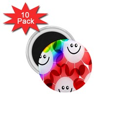 Happy Flowers 1.75  Magnets (10 pack)