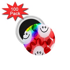 Happy Flowers 1.75  Magnets (100 pack)