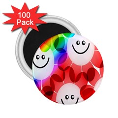 Happy Flowers 2.25  Magnets (100 pack)