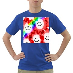 Happy Flowers Dark T-Shirt