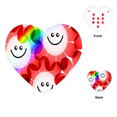 Happy Flowers Playing Cards (Heart)