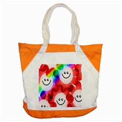 Happy Flowers Accent Tote Bag