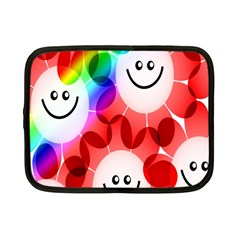 Happy Flowers Netbook Case (Small)