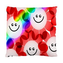 Happy Flowers Standard Cushion Case (Two Sides)