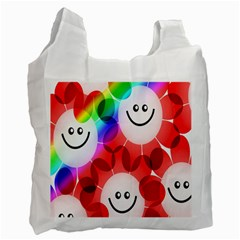 Happy Flowers Recycle Bag (One Side)