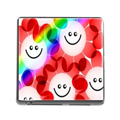 Happy Flowers Memory Card Reader (Square)