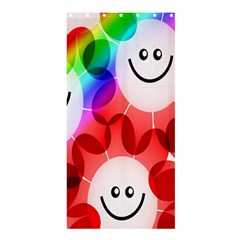 Happy Flowers Shower Curtain 36  x 72  (Stall)