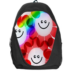 Happy Flowers Backpack Bag