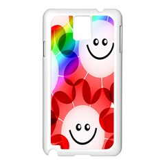 Happy Flowers Samsung Galaxy Note 3 N9005 Case (White)