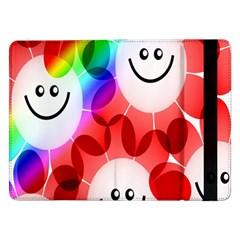 Happy Flowers Samsung Galaxy Tab Pro 12.2  Flip Case