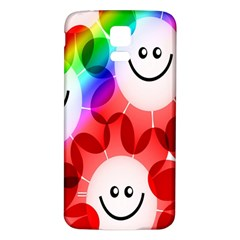 Happy Flowers Samsung Galaxy S5 Back Case (white)