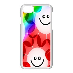 Happy Flowers Apple Iphone 7 Seamless Case (white)